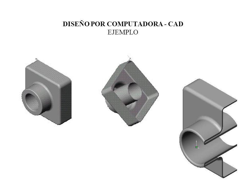DISEÑO POR COMPUTADORA - CAD software de diseño para elaborar dibujos de las piezas contiene librerías de elementos geométricos básicos como: líneas, círculos, barras, conos, etc.