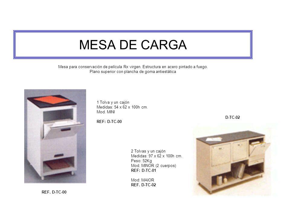 MESA DE CARGA Mesa para conservación de película Rx virgen.