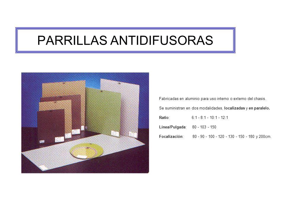 PARRILLAS ANTIDIFUSORAS Fabricadas en aluminio para uso interno o externo del chasis.