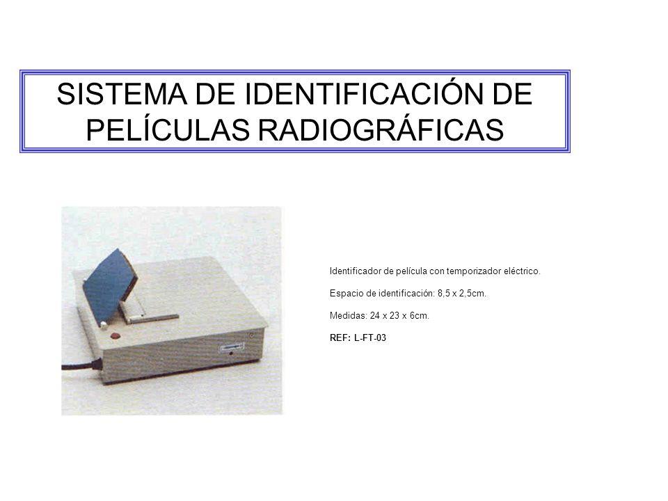 SISTEMA DE IDENTIFICACIÓN DE PELÍCULAS RADIOGRÁFICAS Identificador de película con temporizador eléctrico.