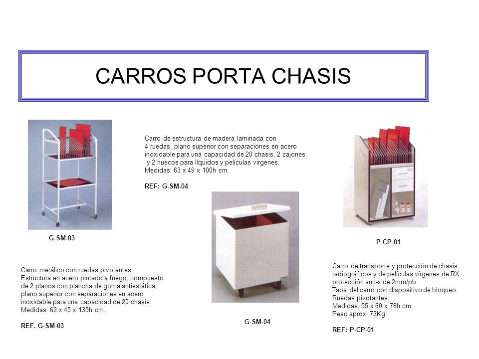 CARROS PORTA CHASIS Carro metálico con ruedas pivotantes.