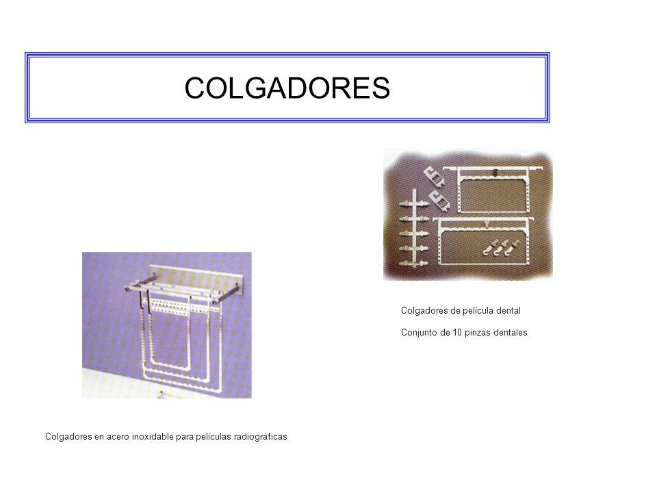 COLGADORES Colgadores en acero inoxidable para películas radiográficas Colgadores de película dental Conjunto de 10 pinzas dentales