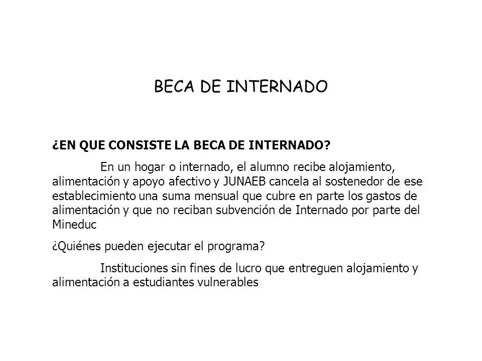 BECA DE INTERNADO ¿EN QUE CONSISTE LA BECA DE INTERNADO.