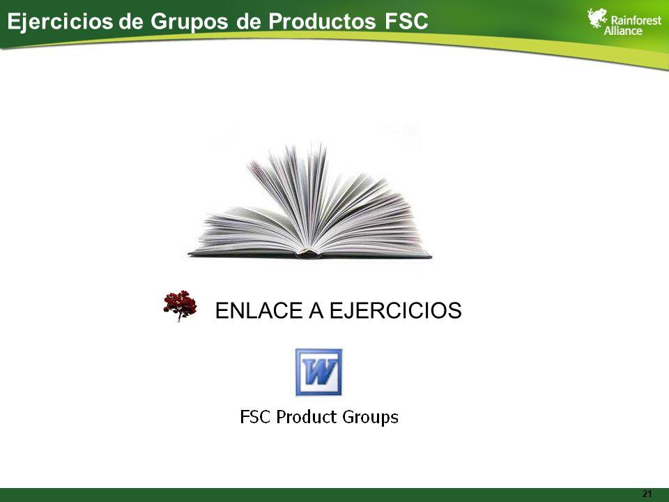 21 ENLACE A EJERCICIOS Ejercicios de Grupos de Productos FSC
