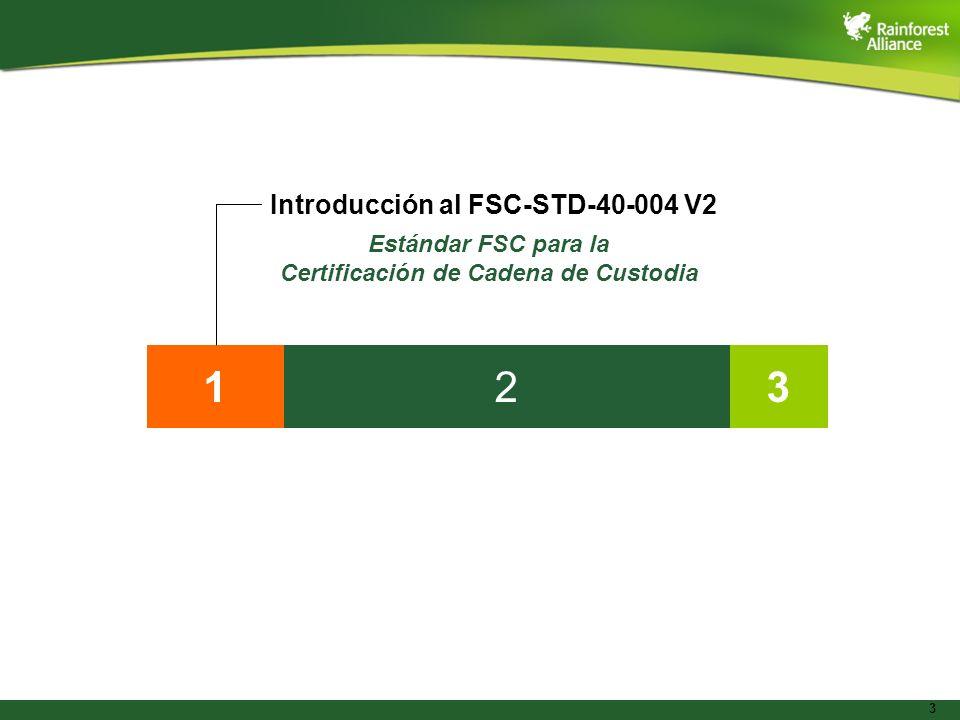 3 132 Introducción al FSC-STD-40-004 V2 Estándar FSC para la Certificación de Cadena de Custodia
