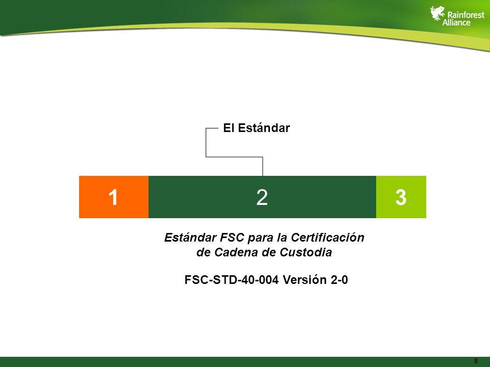 8 132 El Estándar Estándar FSC para la Certificación de Cadena de Custodia FSC-STD-40-004 Versión 2-0