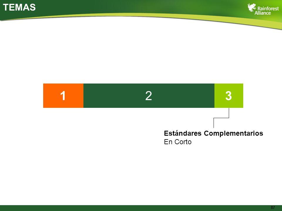 87 TEMAS 132 Estándares Complementarios En Corto