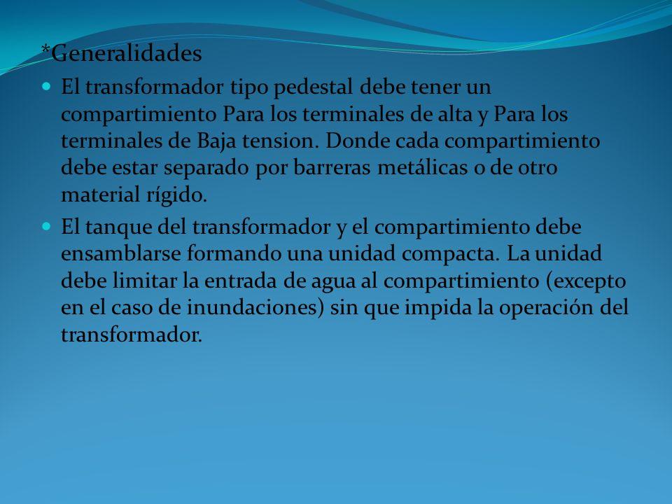 CARACTERISTICASUNIDADREQUERIDO DEVANADO SECUNDARIO Tensión Nominal Secuandaria (V) 208 /120 Nivel Básico de Aislamiento (BIL) a la Onda 1,2/50μs en A.