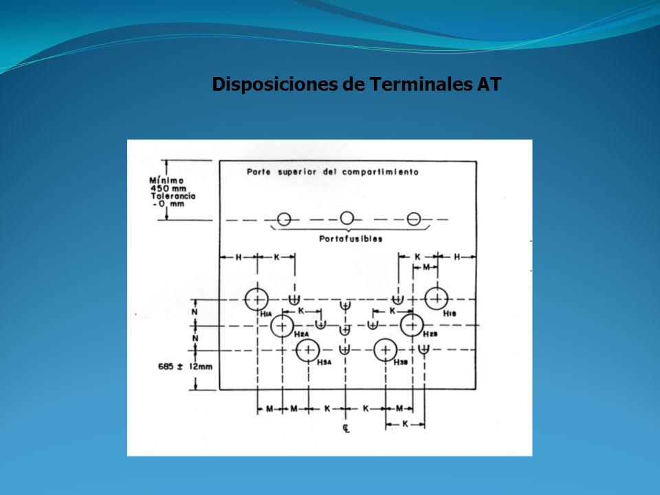 Marcación Los terminales deberán ser identificados como H1A; H1B; H2A; H2B; y H3A;H3B (alta tensión) y X1; X2; X3 y Xo (baja tensión). Se usará pintur