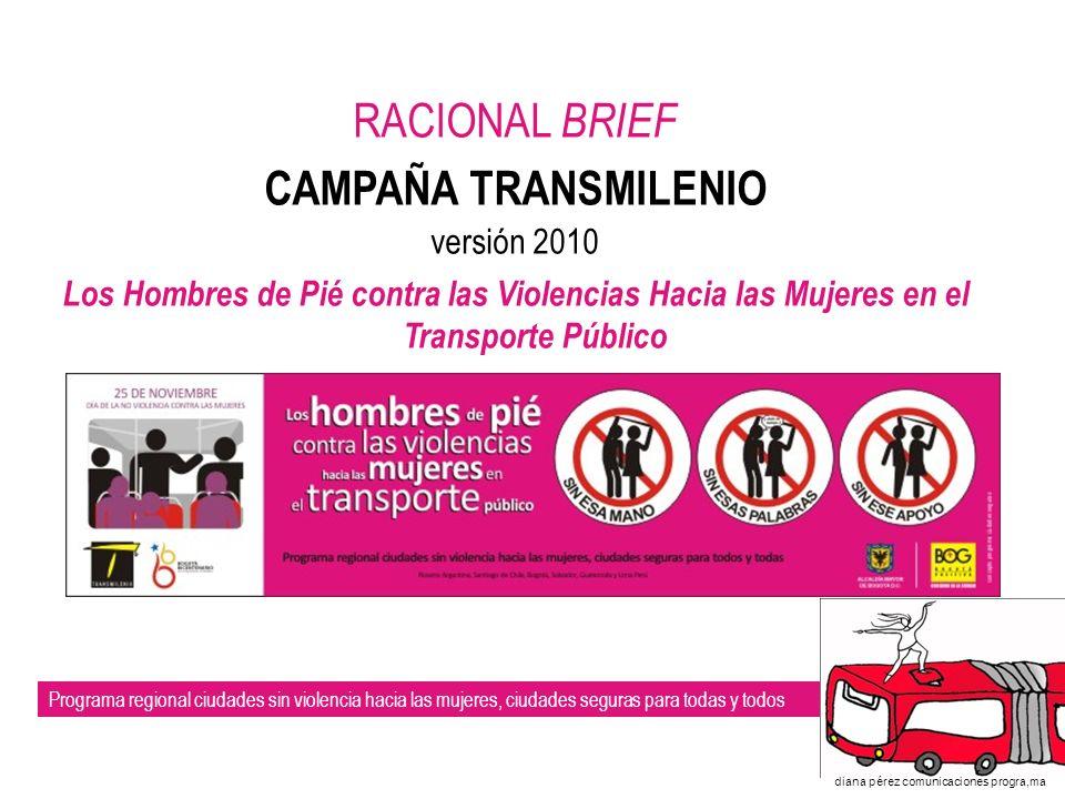 Programa regional ciudades sin violencia hacia las mujeres, ciudades seguras para todas y todos diana pérez comunicaciones progra,ma I.