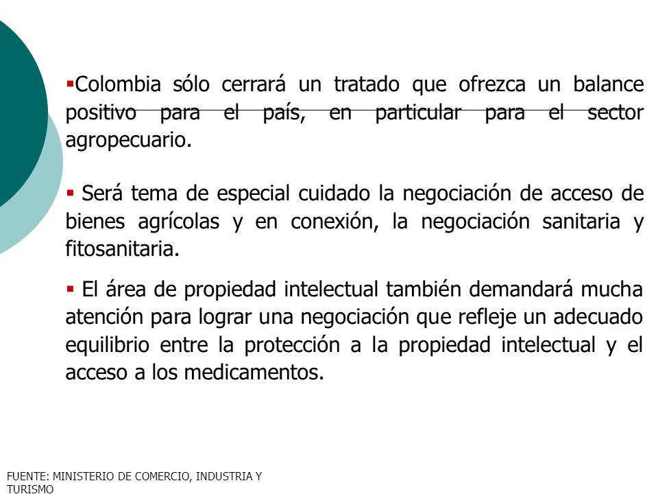 Colombia sólo cerrará un tratado que ofrezca un balance positivo para el país, en particular para el sector agropecuario. Será tema de especial cuidad