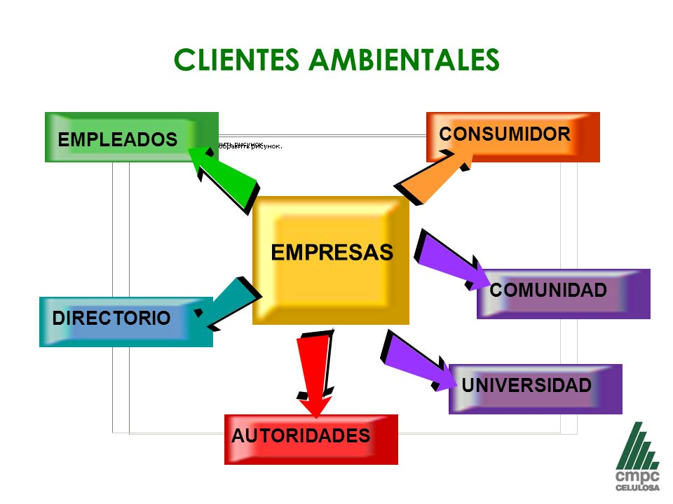 CLIENTES AMBIENTALES EMPRESAS CONSUMIDOR COMUNIDAD AUTORIDADES EMPLEADOS DIRECTORIO UNIVERSIDAD