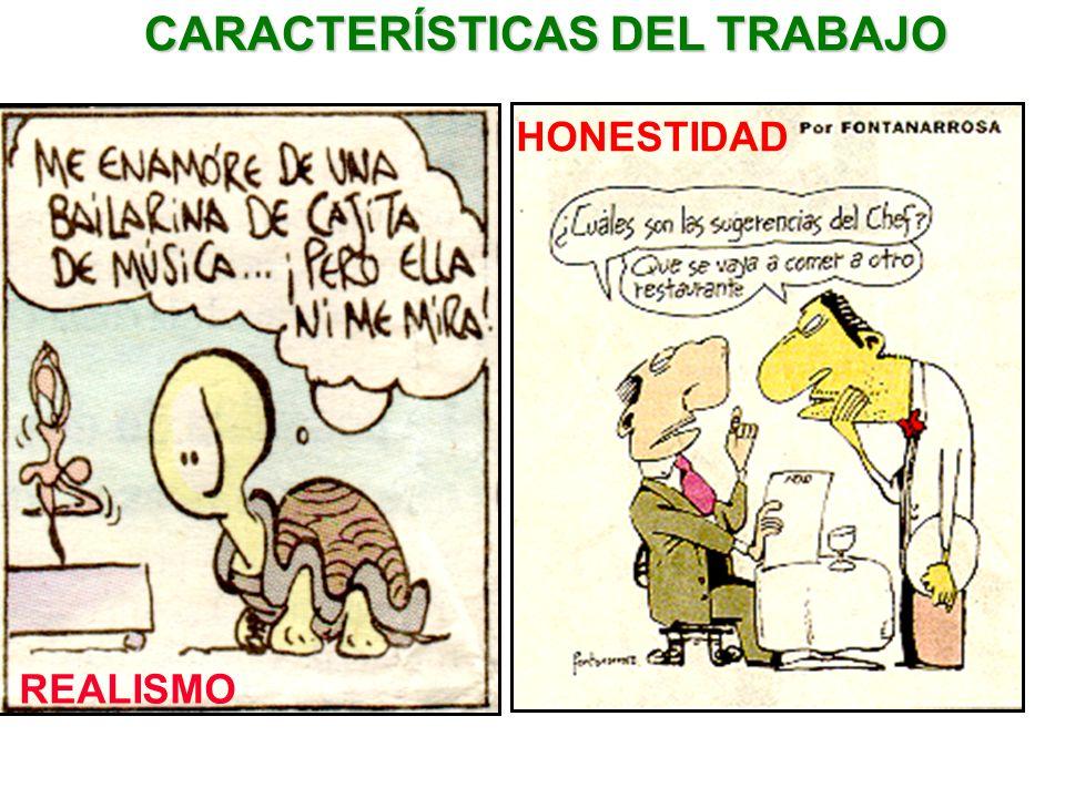HONESTIDAD CARACTERÍSTICAS DEL TRABAJO REALISMO