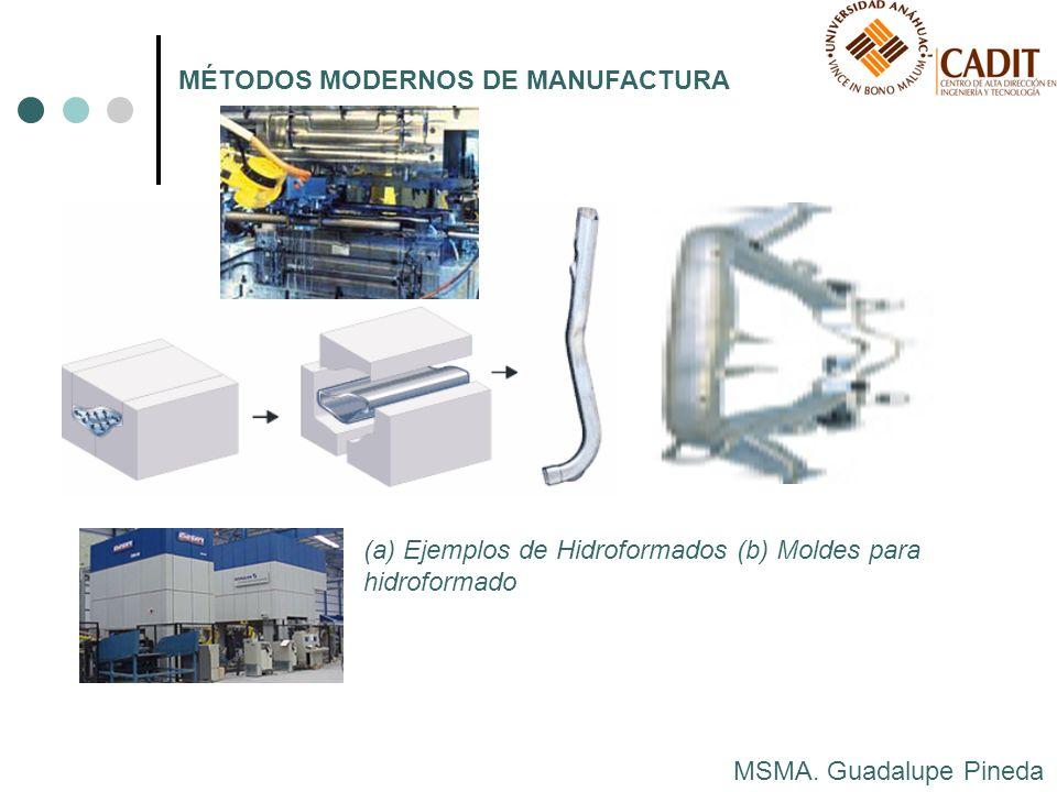 MSMA. Guadalupe Pineda MÉTODOS MODERNOS DE MANUFACTURA (a) Ejemplos de Hidroformados (b) Moldes para hidroformado