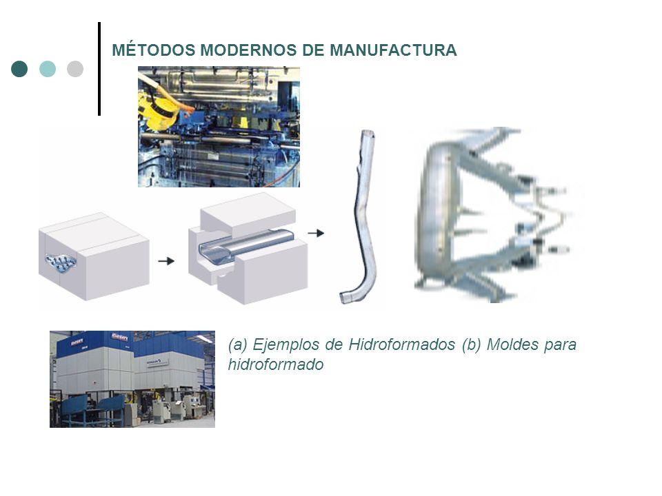 MÉTODOS MODERNOS DE MANUFACTURA (a) Ejemplos de Hidroformados (b) Moldes para hidroformado