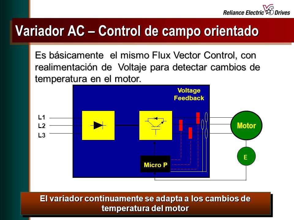 Spring Update CD, May 2001 Es básicamente el mismo Flux Vector Control, con realimentación de Voltaje para detectar cambios de temperatura en el motor.