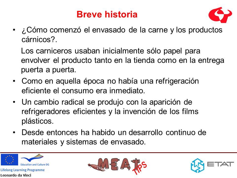 Breve historia ¿Cómo comenzó el envasado de la carne y los productos cárnicos?. Los carniceros usaban inicialmente sólo papel para envolver el product