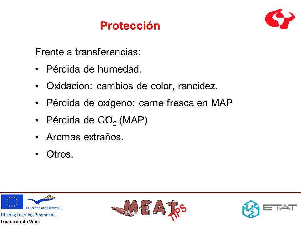 Leonardo da Vinci Protección Frente a la contaminación de: bacterias mohos levaduras virus productos químicos Frente a insectos Frente al crecimiento de microorganismos Frente a la luz (laminados con aluminio, films impresos)