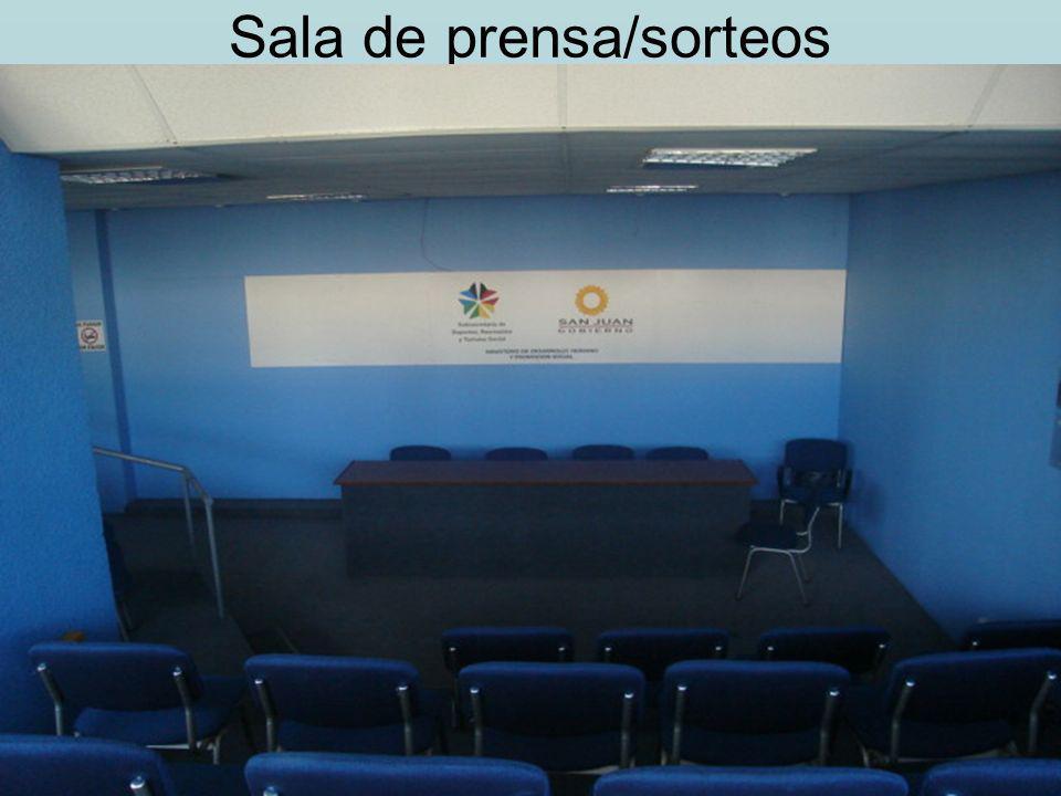 Sala de prensa/sorteos