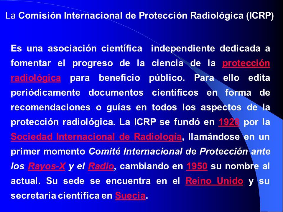La Comisión Internacional de Protección Radiológica (ICRP) Es una asociación científica independiente dedicada a fomentar el progreso de la ciencia de