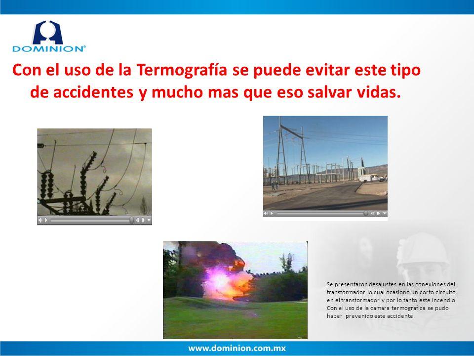 Con el uso de la Termografía se puede evitar este tipo de accidentes y mucho mas que eso salvar vidas. Se presentaron desajustes en las conexiones del