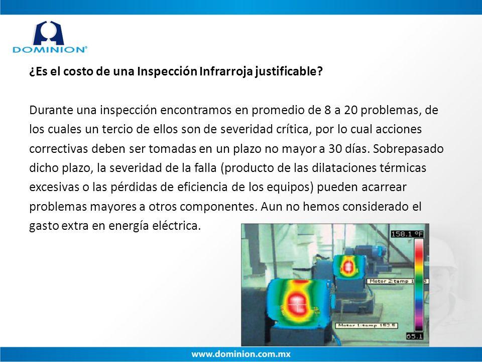 ¿Es el costo de una Inspección Infrarroja justificable? Durante una inspección encontramos en promedio de 8 a 20 problemas, de los cuales un tercio de