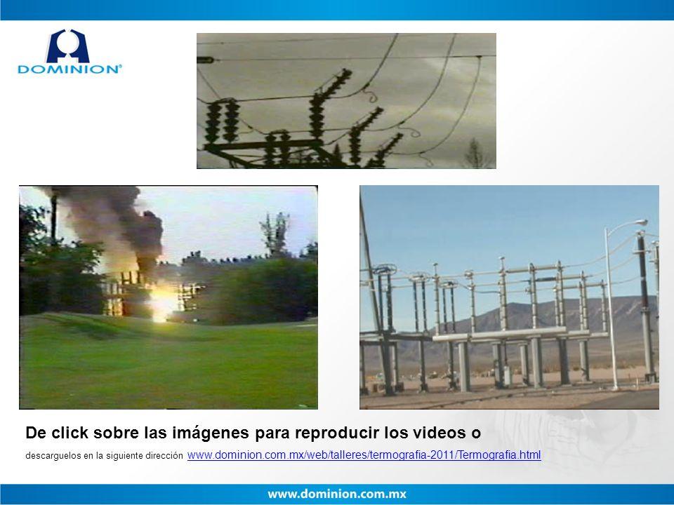 De click sobre las imágenes para reproducir los videos o descarguelos en la siguiente dirección www.dominion.com.mx/web/talleres/termografia-2011/Term