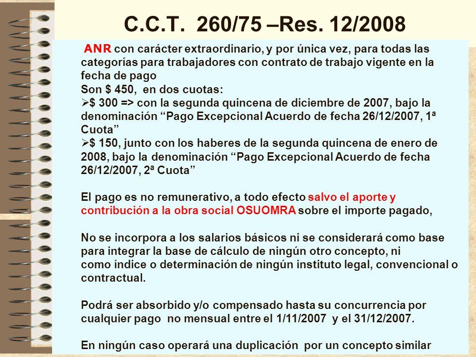 C.C.T.260/75 –Remuneraciones de Corredores y Viajantes Art.