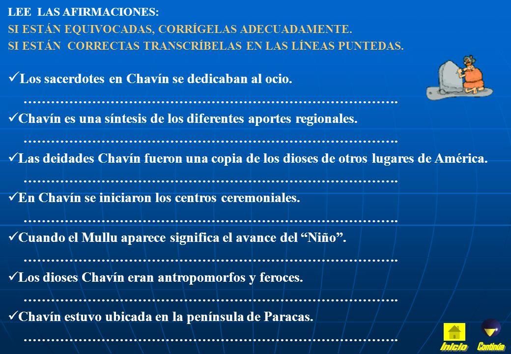 UBICA en la línea del tiempo: - Pre - Chavín - Duración de Chavín: inicio y final. - Paracas - Señala: qué pasaba en el mismo tiempo en Egipto, Colomb