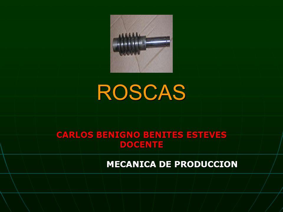 ROSCAS CARLOS BENIGNO BENITES ESTEVES DOCENTE MECANICA DE PRODUCCION