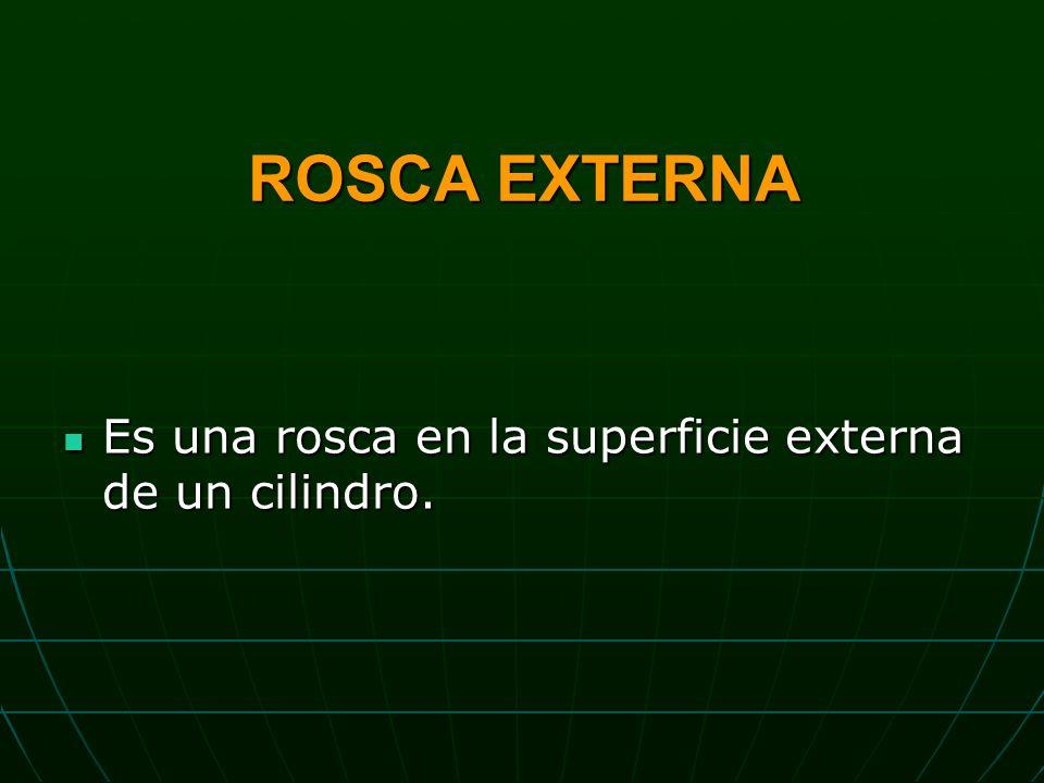 ROSCA EXTERNA Es una rosca en la superficie externa de un cilindro.