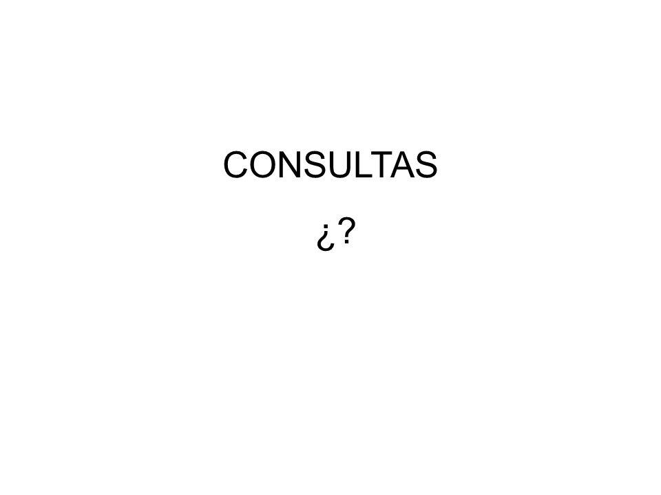 CONSULTAS ¿?