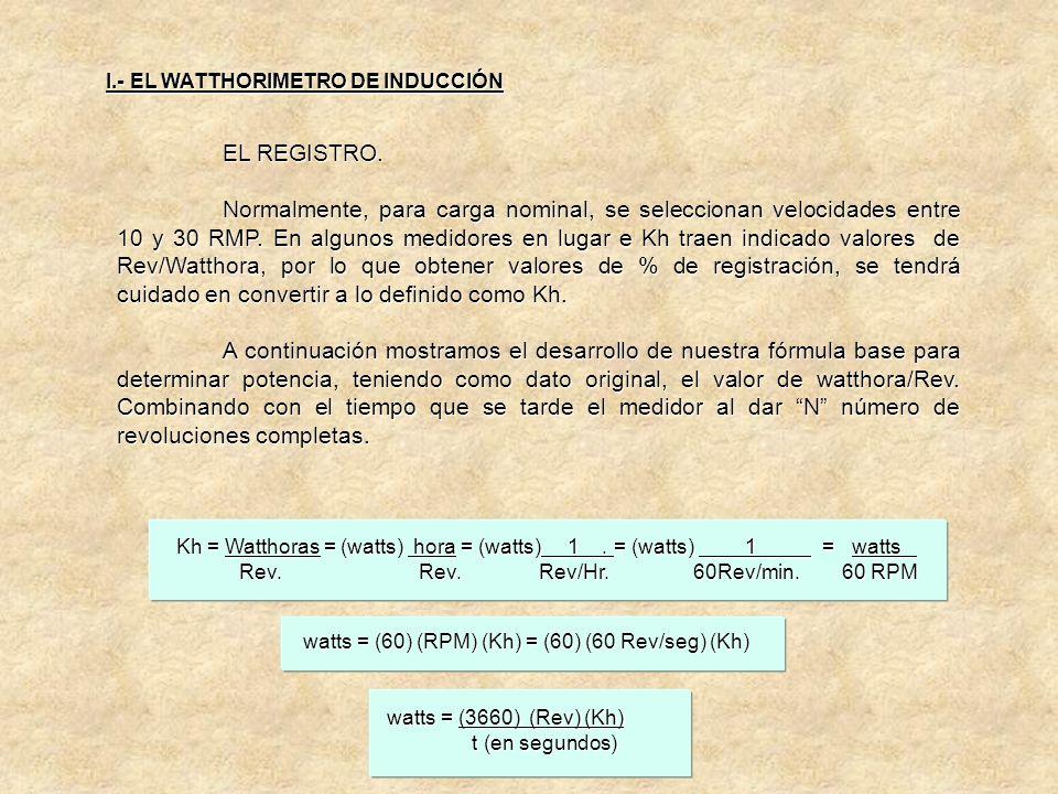 EL REGISTRO. El registro es un medidor de contar las revoluciones del rotor, o disco. Existen 2 tipos: a) Registro de manecillas. b) Registro ciclomét