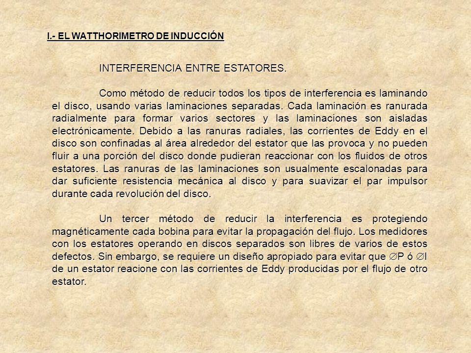 INTERFERENCIA ENTRE ESTATORES. b) Interferencia Corriente-Corriente. Se debe al eslabonamiento del flujo de la bobina de corriente de un estator con l