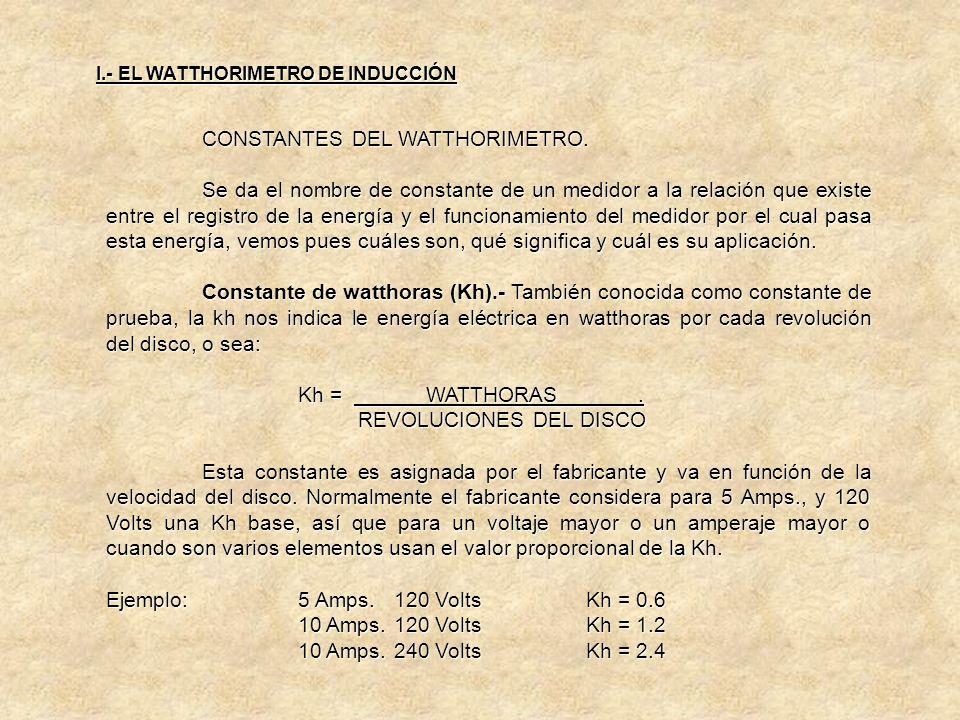 FABRICACIÓN DE WATTHORIMETROS..c) FRECUENCIA: Los medidores actuales operan correctamente de 54 a 66 Mhz. d) TEMPERATURA: Los medidores vienen diseñad