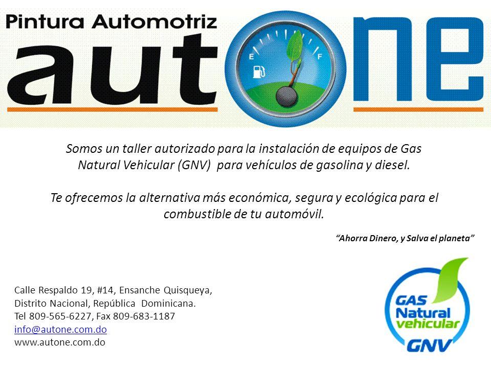 Ahorra Dinero, y Salva el planeta Somos un taller autorizado para la instalación de equipos de Gas Natural Vehicular (GNV) para vehículos de gasolina