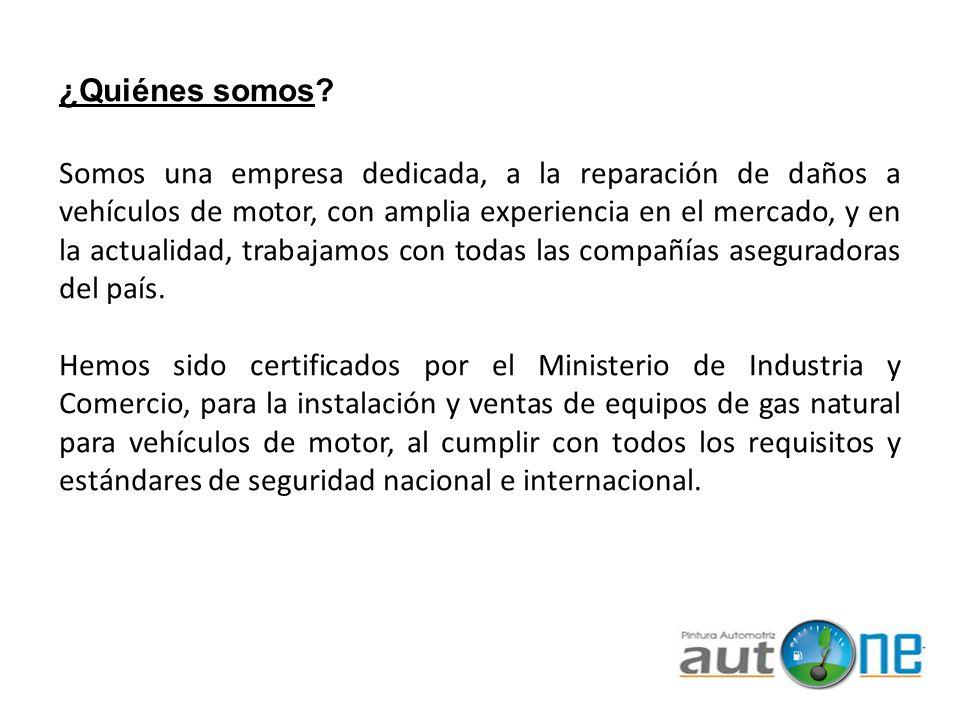 ¿Quiénes somos? Somos una empresa dedicada, a la reparación de daños a vehículos de motor, con amplia experiencia en el mercado, y en la actualidad, t