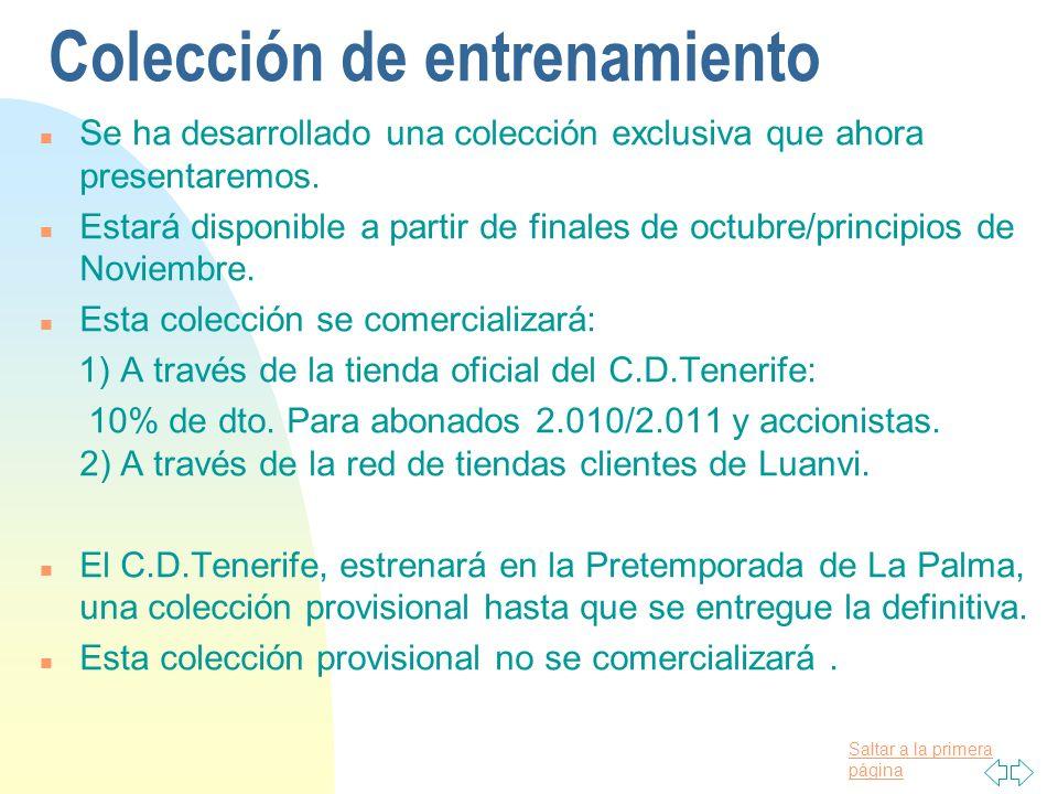 Saltar a la primera página Línea de Trabajo Sport/Urban/Casual Acercar el C.D. Tenerife al mayor número posible de aficionados Ropa de Juego:Hemos que