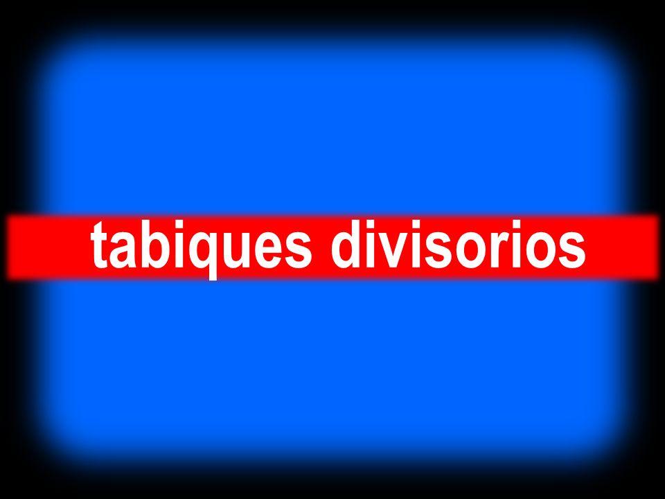 tabiques divisorios