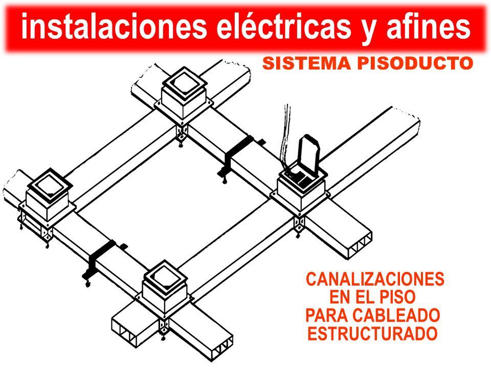 SISTEMA PISODUCTO CANALIZACIONES EN EL PISO PARA CABLEADO ESTRUCTURADO instalaciones eléctricas y afines
