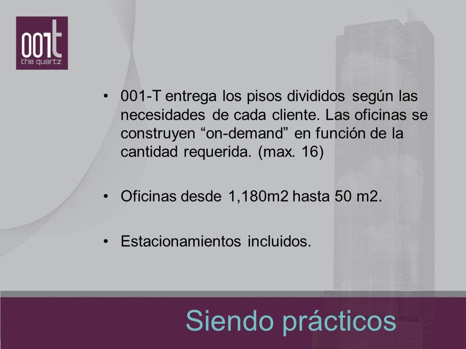 Siendo prácticos 001-T entrega los pisos divididos según las necesidades de cada cliente. Las oficinas se construyen on-demand en función de la cantid