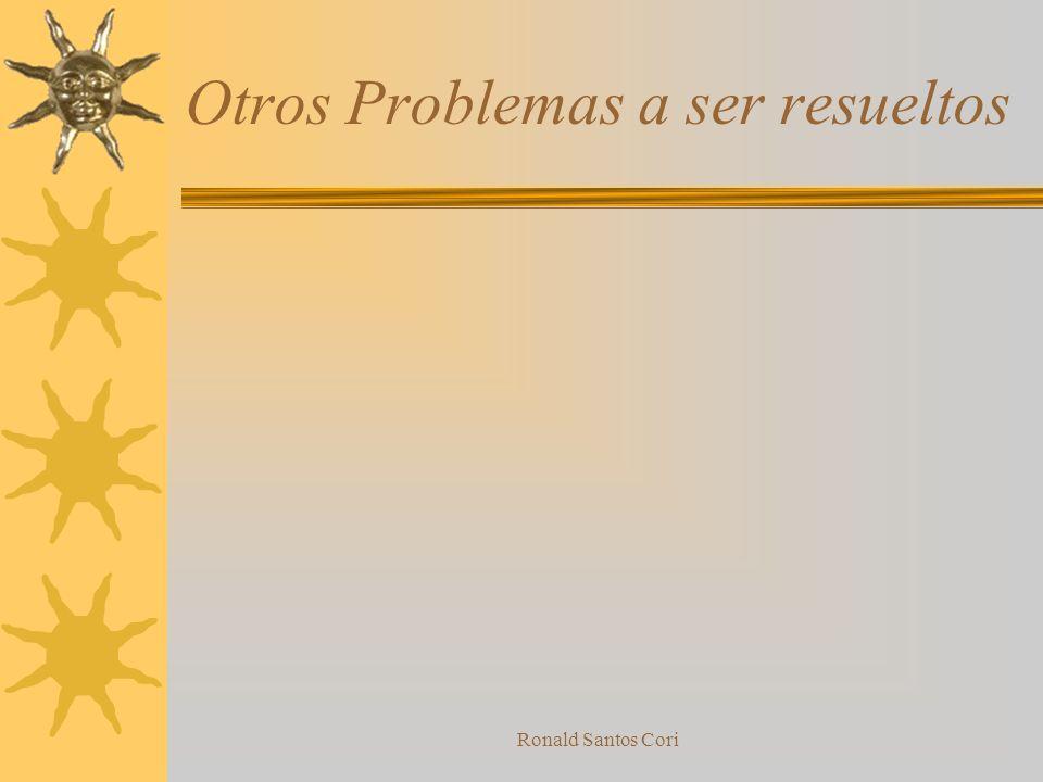 Ronald Santos Cori Historia del desarrollo del problema
