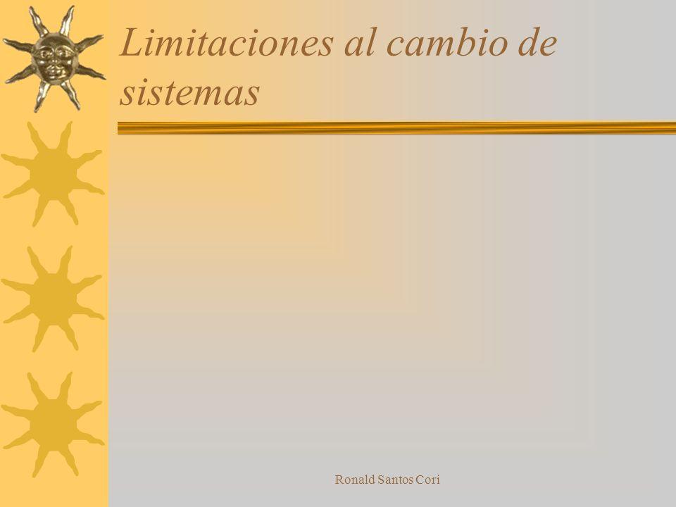 Ronald Santos Cori Cambiando el sistema