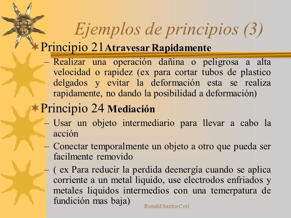 Ronald Santos Cori 40 principios (3) 21.-Atravesar rapidamente 22.-Convertir daño en beneficio 23.-Retroalimentación 24.-Mediación 25.-Autoservicio 26