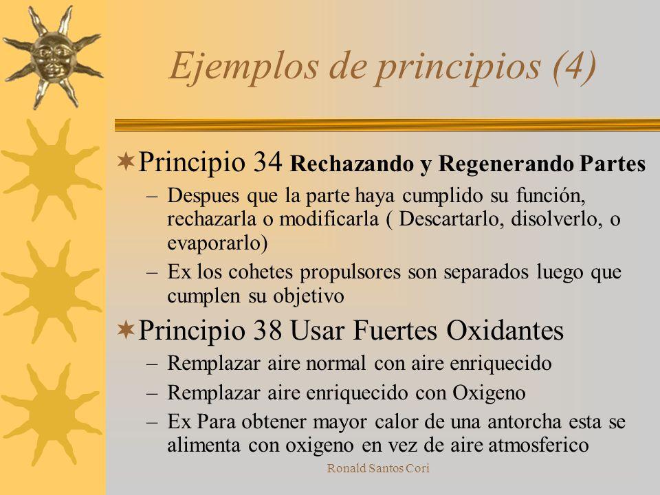 Ronald Santos Cori 40 principios (4) 31.-Uso de material poroso 32.-Cambiando el Color 33.-Homogenidad 34.-Rechazando y regenerando partes 35.-Transfo
