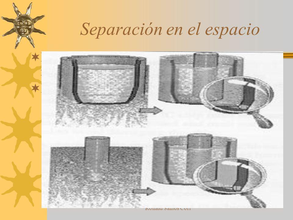 Ronald Santos Cori Principios de separacion Separación en el espacio Separación en el tiempo Separación del todo y sus partes Separación en su condici