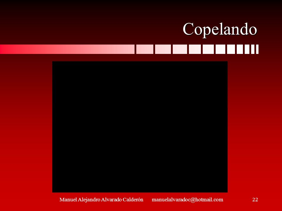 Copelando Manuel Alejandro Alvarado Calderón manuelalvaradoc@hotmail.com22