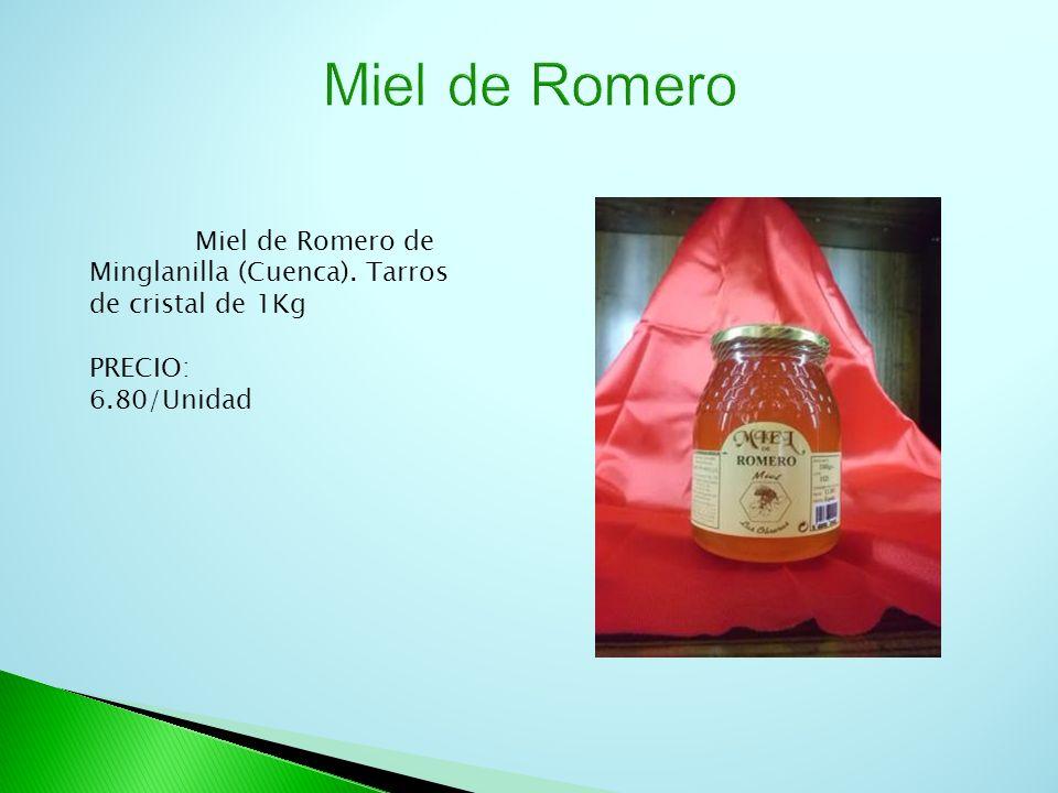 Miel de Romero de Minglanilla (Cuenca). Tarros de cristal de 1Kg PRECIO: 6.80/Unidad