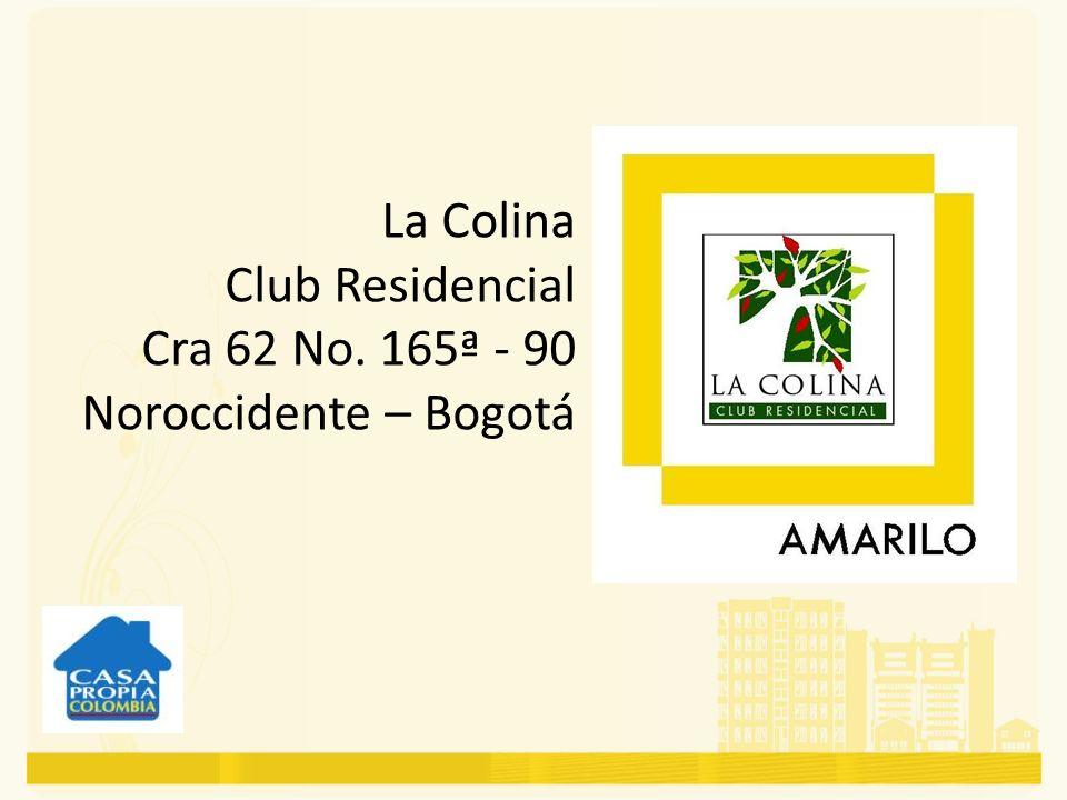 El proyecto La Colina Club Residencial, se encuentra ubicado en el Norte de Bogotá, y cuenta con excelentes vías de acceso como: Avenida Boyacá Calle 167 Calle 170 AutoNorte La Colina Club Residencial está ubicado en una zona de fácil accesibilidad y en su urbanismo se puede disfrutar de amplias zonas de esparcimiento.