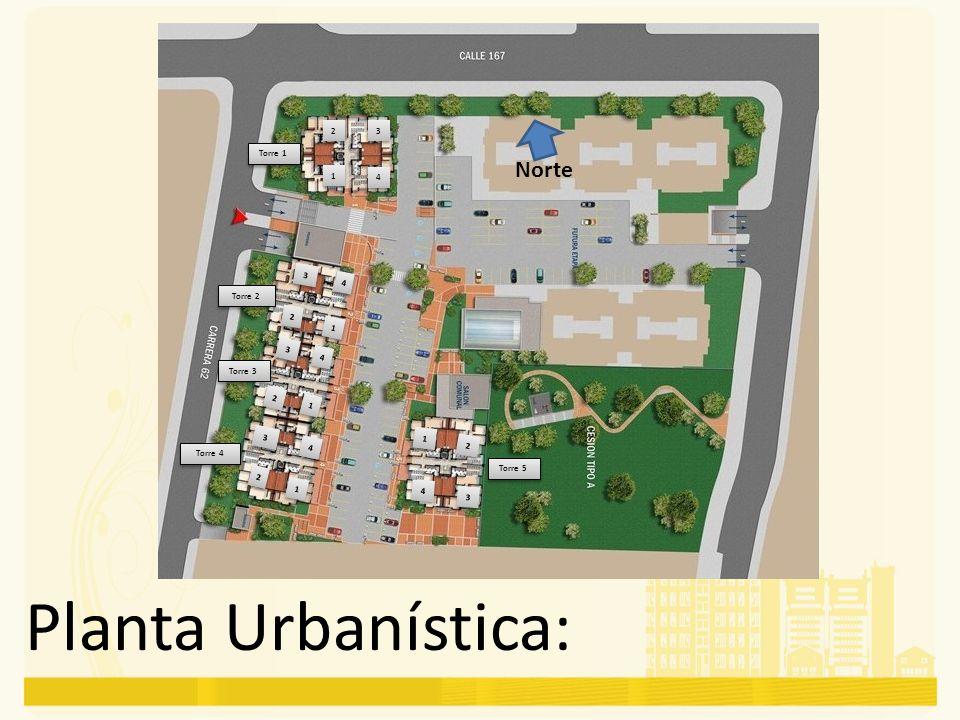 Planta Urbanística: Norte Torre 1 Torre 2 Torre 3 Torre 4 Torre 5 1 1 1 1 1 1 1 1 1 1 2 2 2 2 2 2 2 2 2 2 3 3 3 3 3 3 3 3 3 3 4 4 4 4 4 4 4 4 4 4